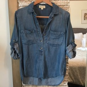 Cloth and Stone chambray blouse